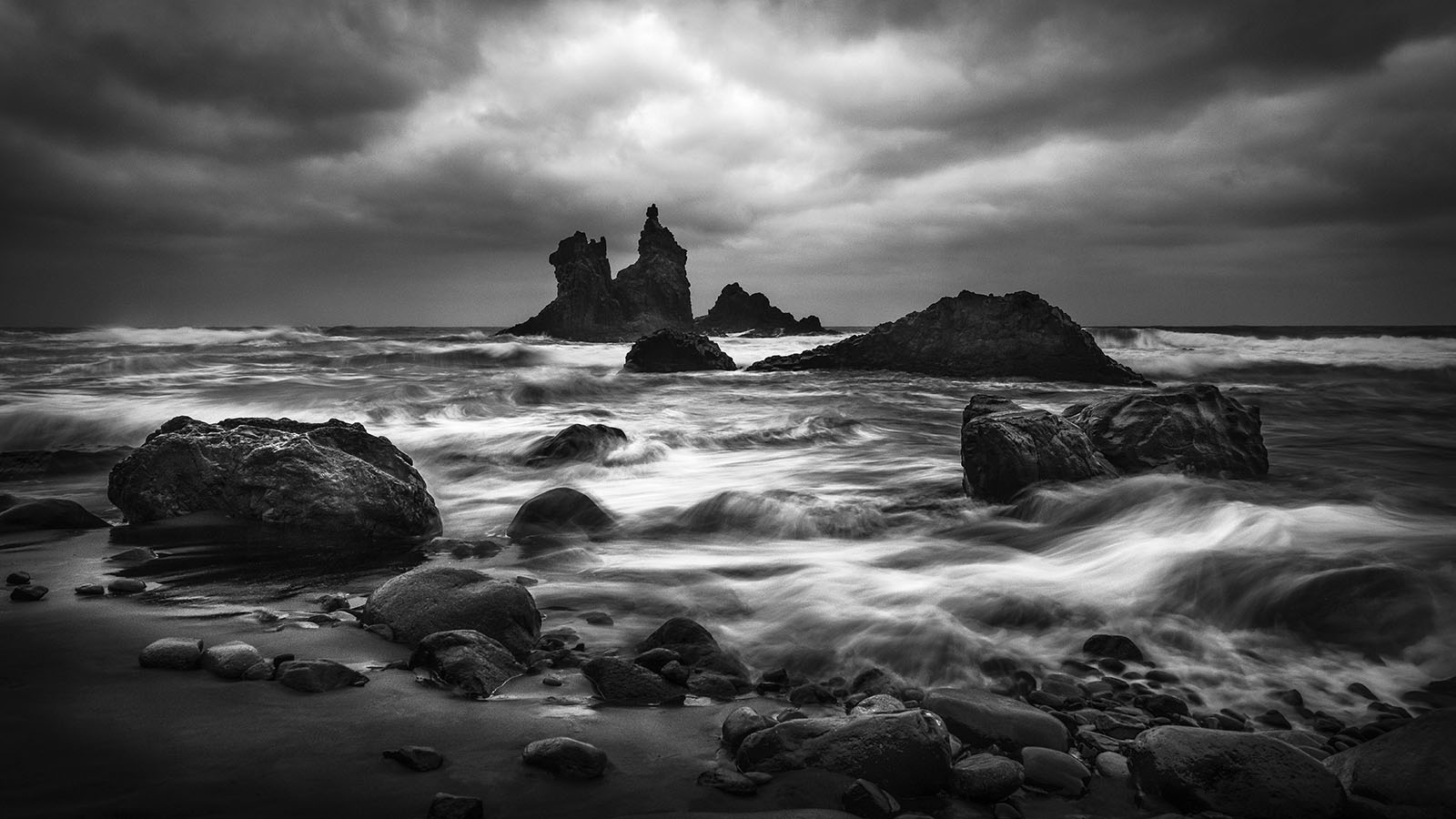 Tenerife - Benijo Beach - Black & White Fine Art Photography Series