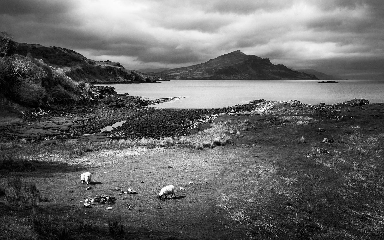 Scotland - Isle of Skye Coastline - Black & White Fine Art Photography Series