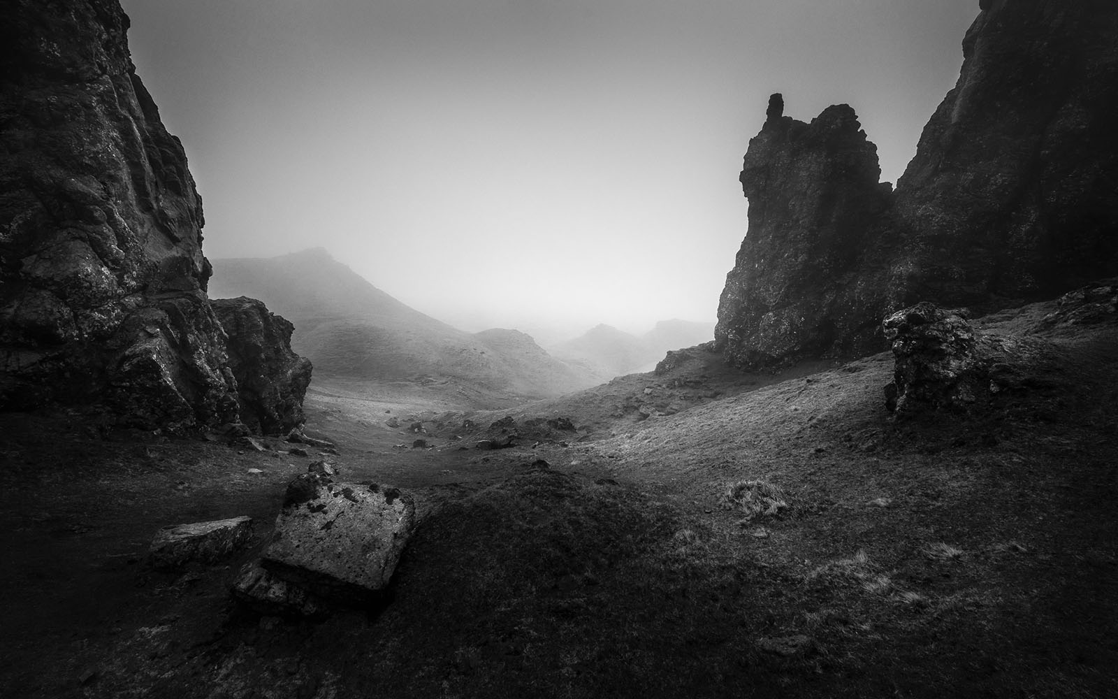 Scotland - Old Man of Storr - Black & White Fine Art Photography Series