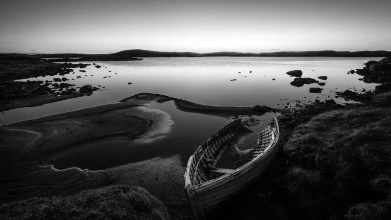 Scotland - Forgotten Boat - Black & White Fine Art Photography Series