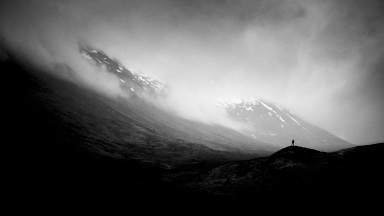 Scotland - Clouds of Glen Coe - Black & White Fine Art Photography Series