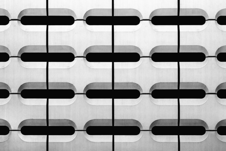 BMW World Car Park, Munich, Germany - Game of Shapes - Black & White Fine Art Architecture Series