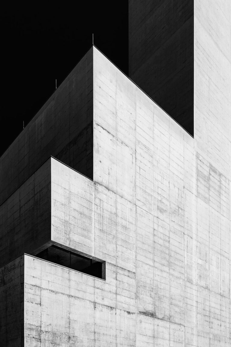 Heizkraftwerk Mitte, Salzburg, Austria - Architect: Bétrix & Consolascio - Game of Shapes - Black & White Fine Art Architecture Series