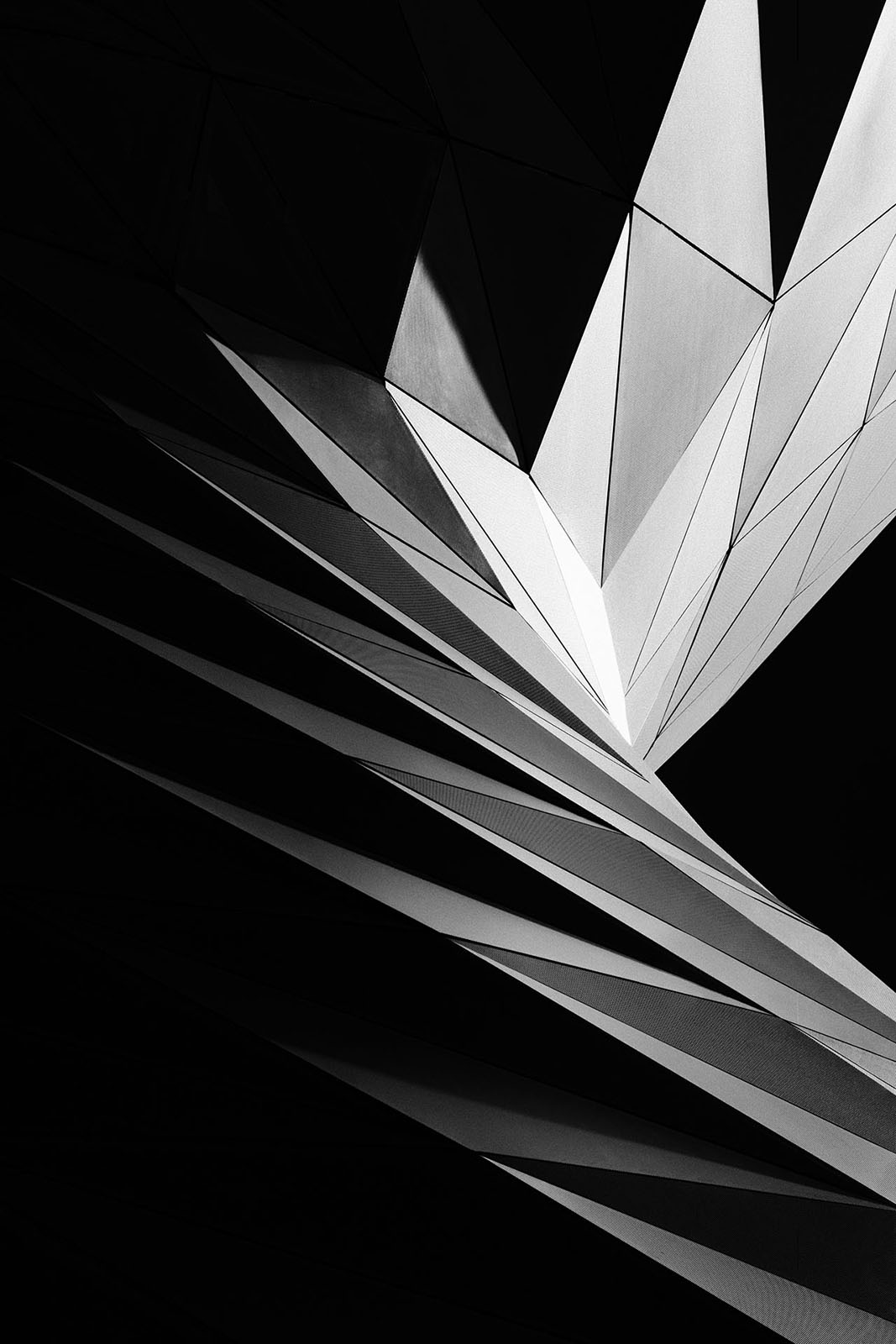 BMW World, Munich, Germany - Wolf Prix, Coop Himmelb(l)au - Game of Shapes - Black & White Fine Art Architecture Series