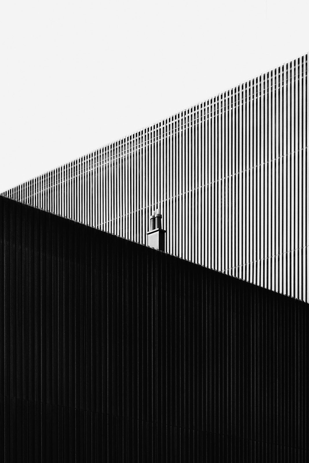 Exhibition Hall A, Innsbruck, Austria - Game of Shapes - Black & White Fine Art Architecture Series