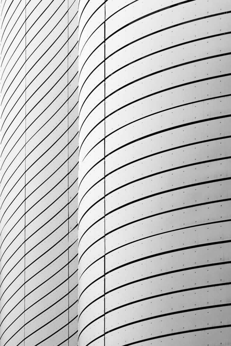 Olympiaworld, Innsbruck, Austria - Game of Shapes - Black & White Fine Art Architecture Series