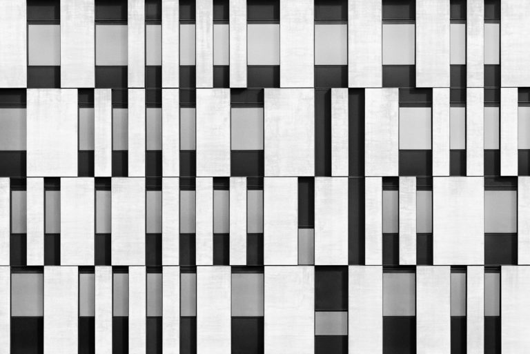 Atrium Amras, Innbruck, Austria - Architect: Zechner & Zechner - Game of Shapes - Black & White Fine Art Architecture Series
