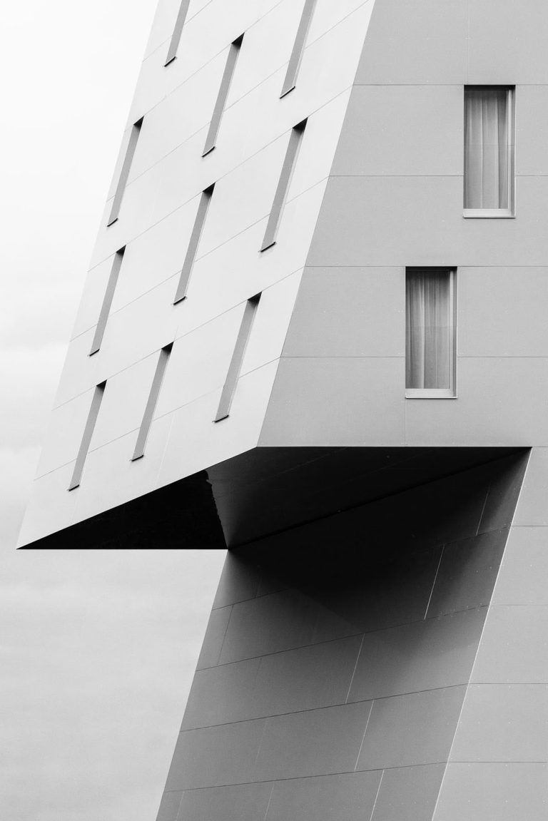 Ramada Hotel, Innsbruck, Austria - Architect: Henke Schreieck Architekten - Game of Shapes - Black & White Fine Art Architecture Series