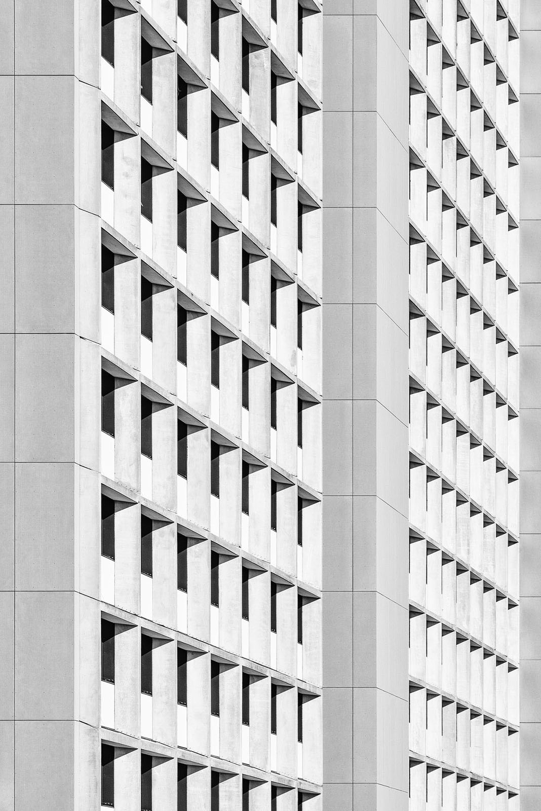 Olympic Village, Munich, Germany - Architect: Heinle, Wischer und Partner - Game of Shapes - Black & White Fine Art Architecture Series