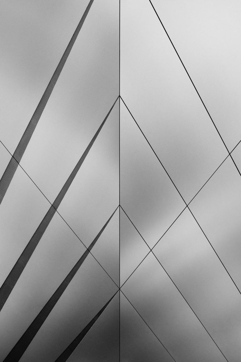 PEMA II, Innsbruck, Austria - Architect: LAAC Architekten - Game of Shapes - Black & White Fine Art Architecture Series