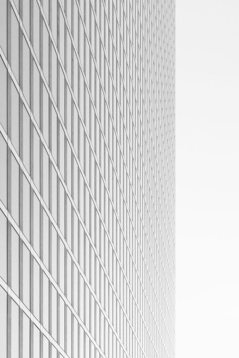 HighLight Towers, Munich, Germany - Architect: Helmut Jahn - Game of Shapes - Black & White Fine Art Architecture Series