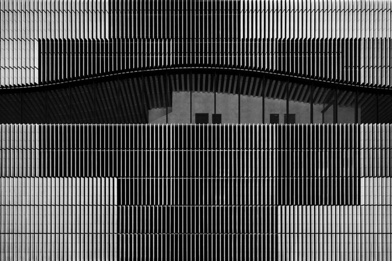 Paracelsus-Bad, Salzburg, Austria - Architect: Berger + Parkkinen - Game of Shapes - Black & White Fine Art Architecture Series