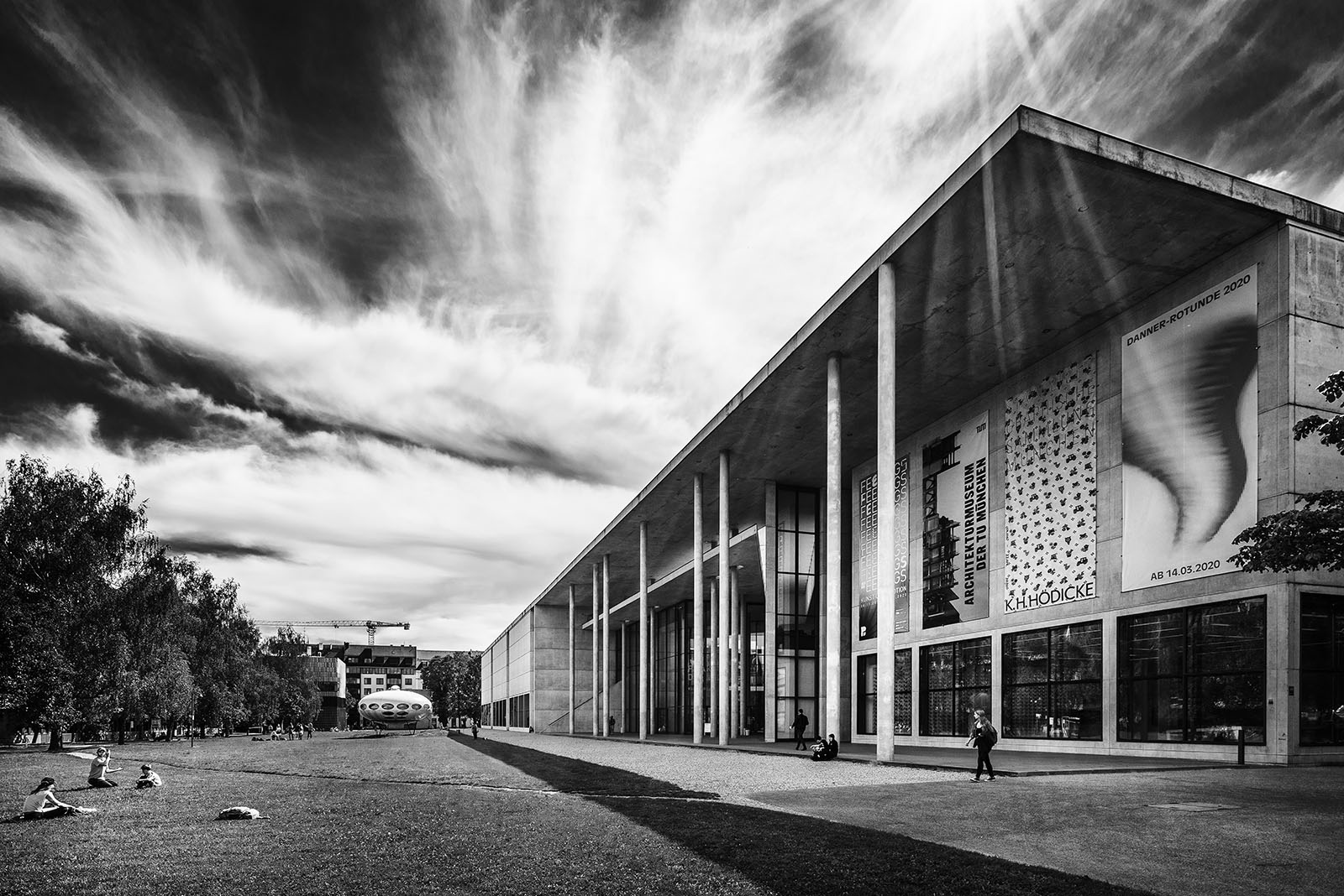 Pinakothek der Moderne, Munich, Germany - Architect: Stephan Braunfels - Black & White Fine Art Architecture - Philipp Apler - MONOPHIL
