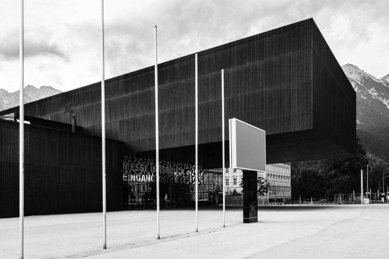 Exhibition Hall A, Innsbruck, Austria - Architect: Cukrowicz Nachbaur Architekten - Black & White Fine Art Architecture - Philipp Apler - MONOPHIL