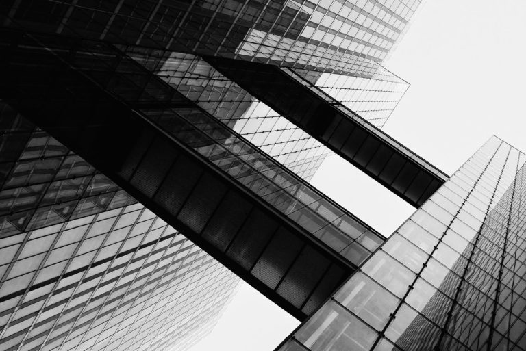 HighLight Towers, Munich, Germany - Architect: Helmut Jahn - Black & White Fine Art Architecture Series