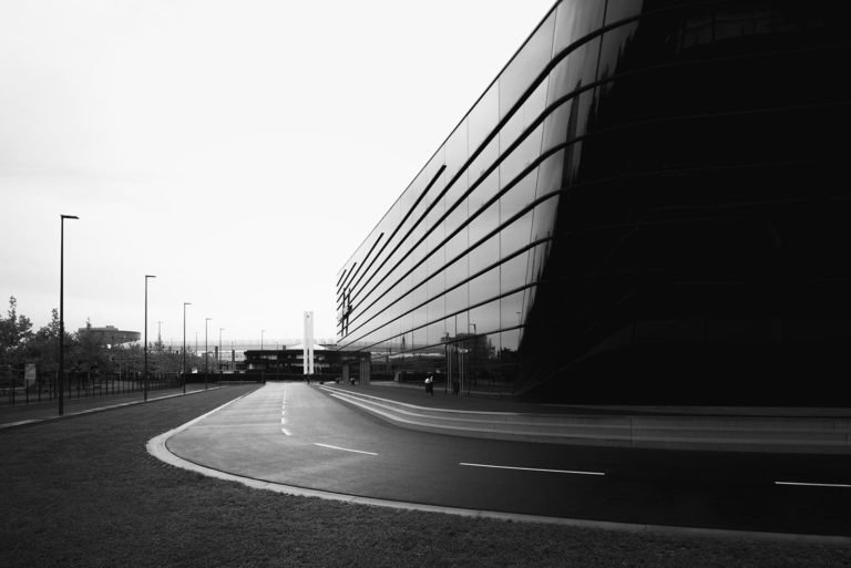 NürnbergMesse Hall 3C, Nuremberg, Germany - Architect: Zaha Hadid - Black & White Fine Art Architecture Series
